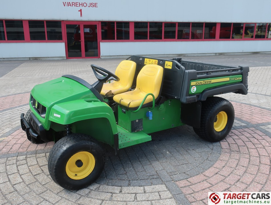 JOHN DEERE GATOR TE CE UTV 4x2 UTILITY VEHICLE ELECTRIC 2014 GREEN 1174HRS