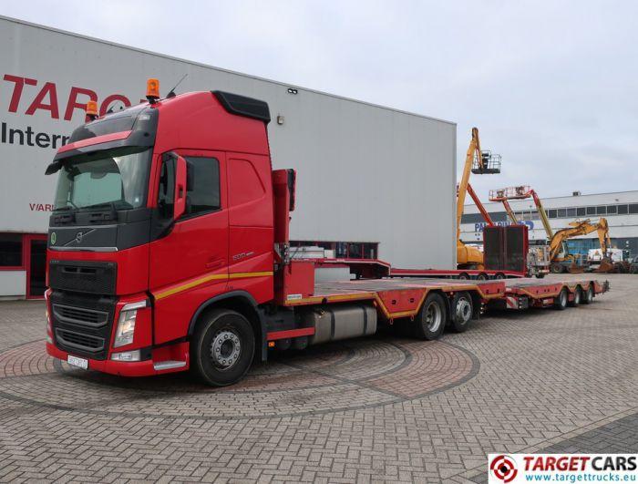 VOLVO FH13 500 6x2 MACHINERY TRANSPORTER W/MEUSBURGER SUPERSTRUCTURE / TRAILER MPT-3 04/2014 DE REG 542888KM