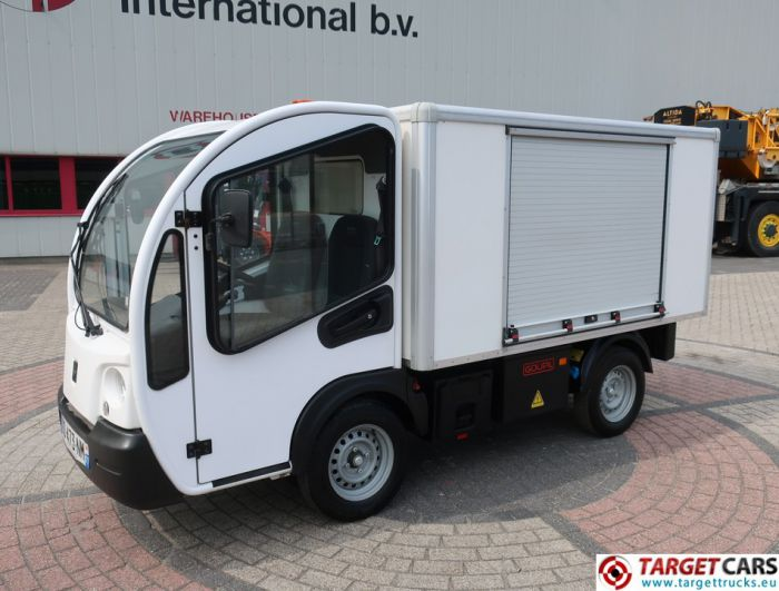 GOUPIL G3 ELECTRIC UTILITY VEHICLE UTV CLOSED BOX LONG WIDE VAN 02-2014 WHITE 16716KM