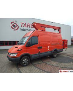 IVECO 50C13 VAN 125HP 02/06 RED W/ GSR SKYKING S125RA BOOM WORKLIFT BUCKET 1220CM