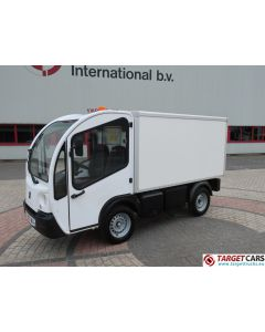GOUPIL G3 ELECTRIC UTILITY VEHICLE UTV CLOSED BOX LONG WIDE VAN 05-2012 WHITE 6702KM