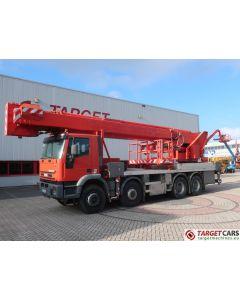 IVECO EUROTRAKKER 380HP 8x4 TRUCK 07/04 RED W/MULTITEL J352TA BOOM LIFT 5200CM