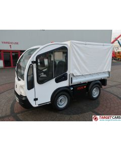 GOUPIL G3 ELECTRIC UTILITY VEHICLE UTV PLATFORM SHORT TARP COVERED VAN 11-2014 WHITE 3914KM