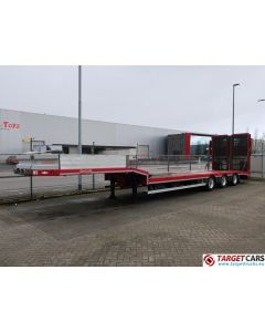 NOOTEBOOM OSDS-41-03 SEMI 3-AXLE LOW LOADER LOWBED TRAILER 41T 06-2013 RED