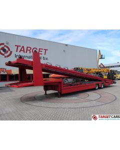 GS MEPPEL SP-8-16L 2-AXLE CAR TRANSPORTER TRAILER FOR 6 CARS 12-1998 RED